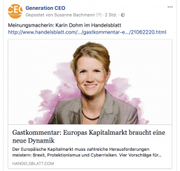 GenCEO im Handelsblatt